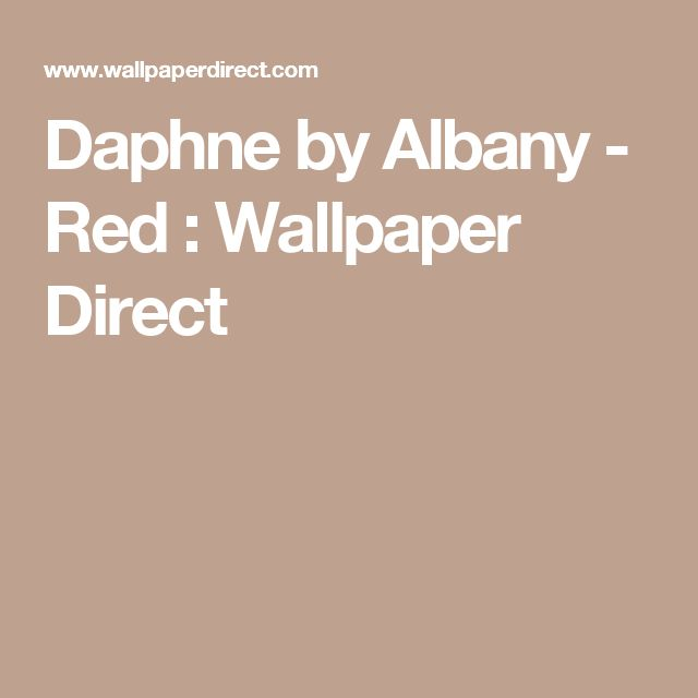 Daphne by Albany - Red :Wallpaper Direct