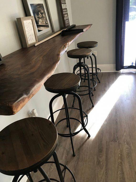 Live Edge Slab Bars Black Walnut For Bars Kitchen Etsy Bars For Home Pool Table Room Island Countertops