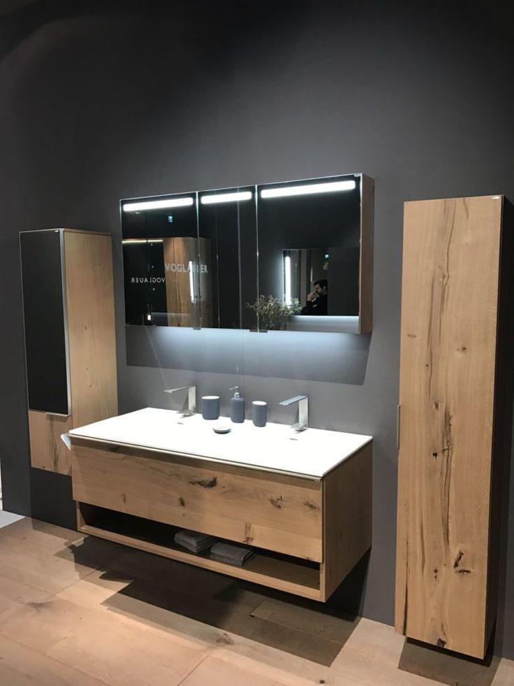 Bathroom LED strip lighting under mirror