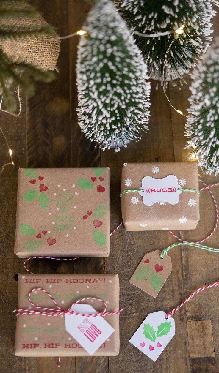 Have your kids help you wrap the presents this year! Our kids wrapping paper DIY makes giving Christmas gifts sweeter than ever. Create a personalized gift tag or design your own paper with just a few stamps and a pair of scissors. Click in for our full tutorial.