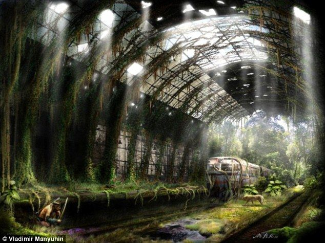 Great apocalyptic landscapes by Russian artist Vladimir Manyuhin (from the Daily Telegraph).