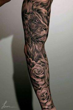 Full cool sleeve tattoo