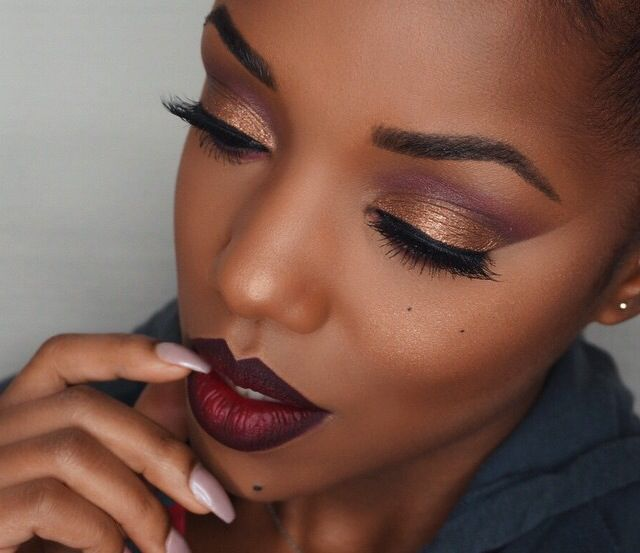 This is just flawless loving the lipstick and that eyeshadow wooh