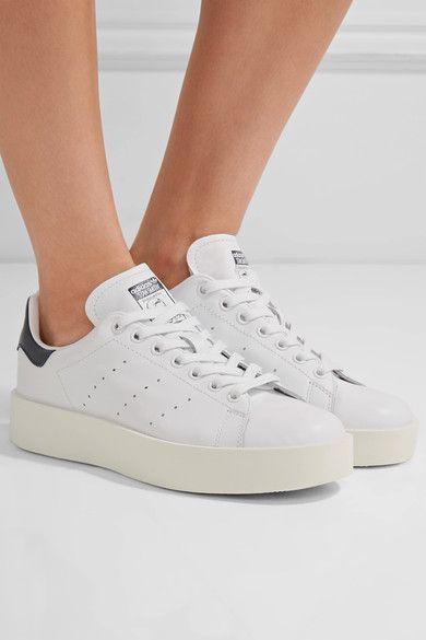 adidas Originals - Stan Smith Leather Platform Sneakers - White - US10.5
