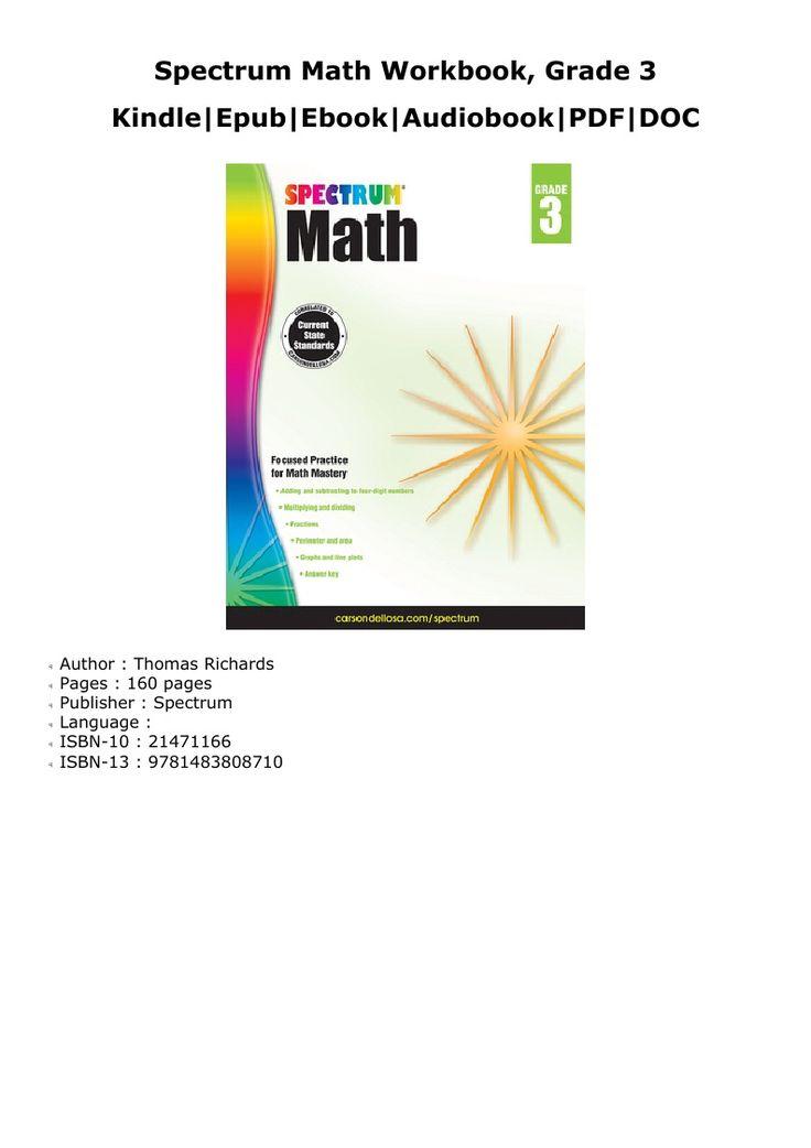 Download spectrum math workbook grade 3 read online