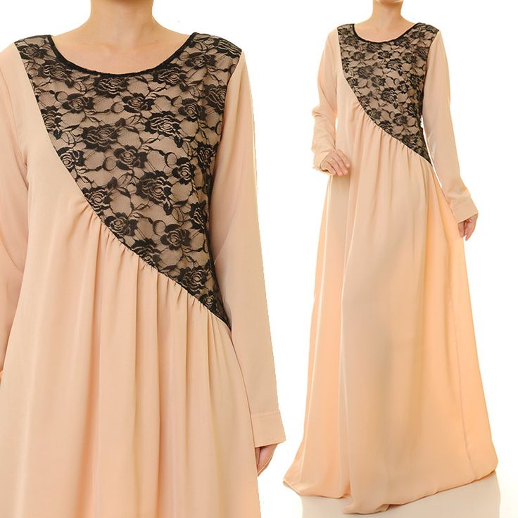 Beige Maxi Dress | Abaya Maxi Dress Long Sleeve | Maternity Maxi Dress | Long Sleeves Maxi Dress | Baby Shower Dress | Bridesmaid Dress 6209 by Tailored2Modesty on Etsy
