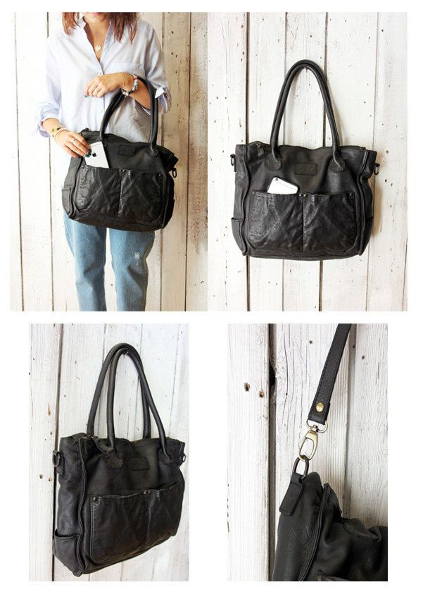 "Handmade Italian Brown Leather Messenger Bag ""MULTI TASC 13 "" di…"