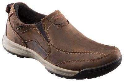 Clarks Wave Scree Easy Waterproof Slip-On Shoes for Men - Dark Brown - 10.5M