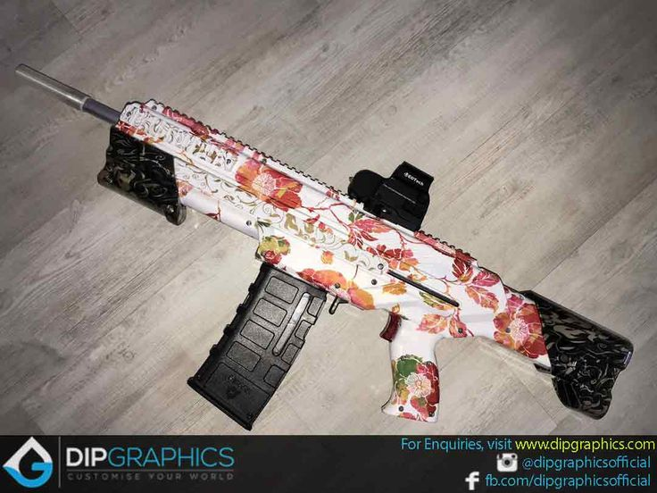Hydro-Dipped-Zeus-2-Nerf-Blaster-in-Floral-Pattern---2