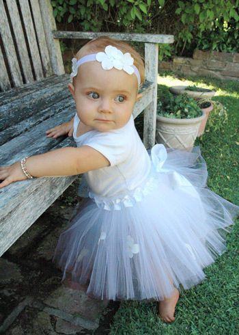 Lil ballerinaLil Ballerinas, Tutu Dresses, White Tutu, Baby Things, Blossoms White, Adorable, Baby Girls, Flower Girls, Little Princesses