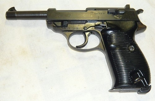 German WWII P38 pistol.  Dated 1943.
