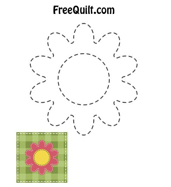 Baby Quilt - Flower
