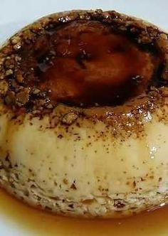 Flan de huevo con higos frescos (en microondas)