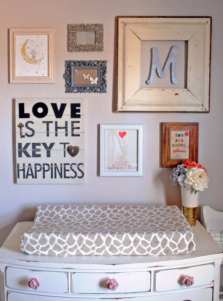 We love a gallery wall that isn't too matchy-matchy. Mix and match frames, shapes & colors!