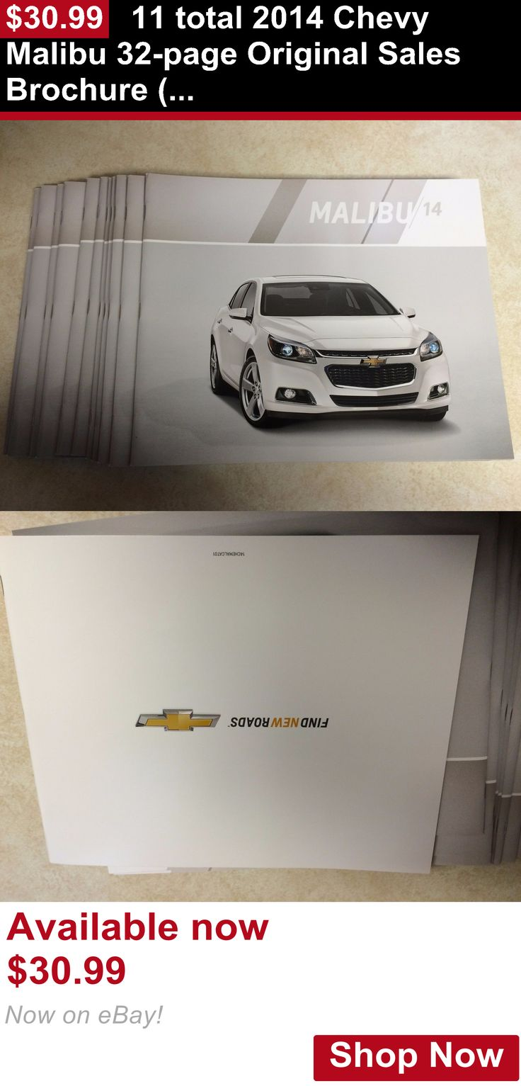 Owners Manuals: 11 Total 2014 Chevy Malibu 32-Page Original Sales Brochure (New) BUY IT NOW ONLY: $30.99