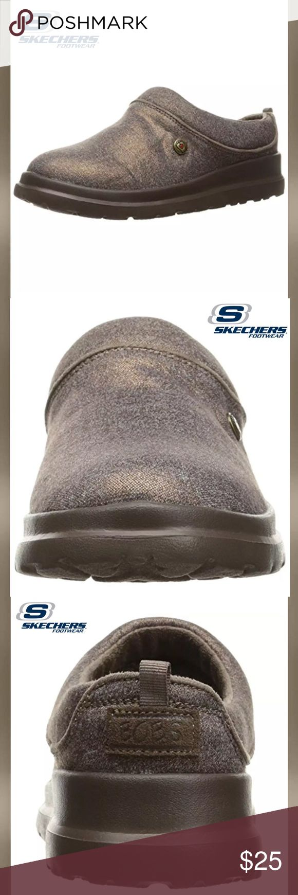 SKETCHERS 'Bobs' Bronze Clog Slippers Please See Above Picture For Detailed Description Sketchers Shoes Slippers