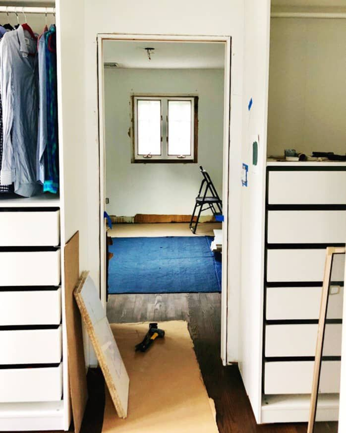 Before And After An Elevated Ikea Pax Closet Hack For The Ages