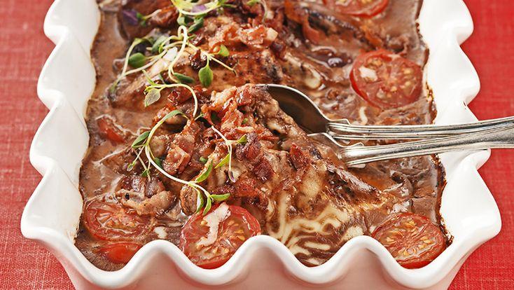 Lyxig filégratäng med bacon