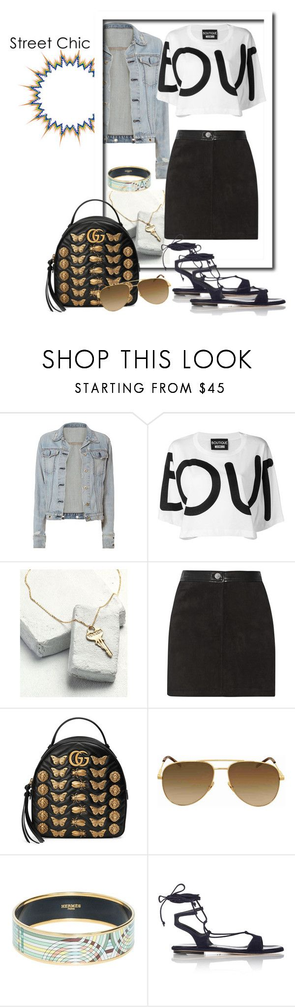 """""""Chic"""" by tattooedmum ❤ liked on Polyvore featuring rag & bone, Boutique Moschino, Rebecca Minkoff, Gucci, Yves Saint Laurent, Hermès, Miu Miu, contestentry and StreetChic"""