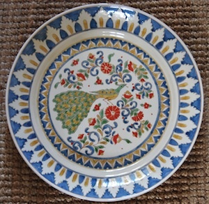 One of the 40 cm diameter Peacock plates