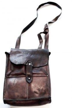 Eastern European Vintage leather bag from Mandula