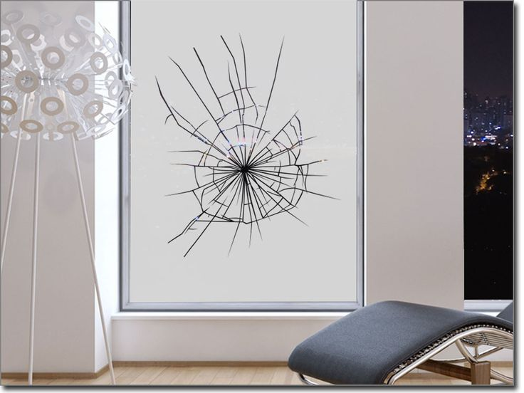 Folie für Fenster Splitter