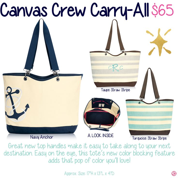 Canvas Crew CarryAll by ThirtyOne. Fall/Winter 2015