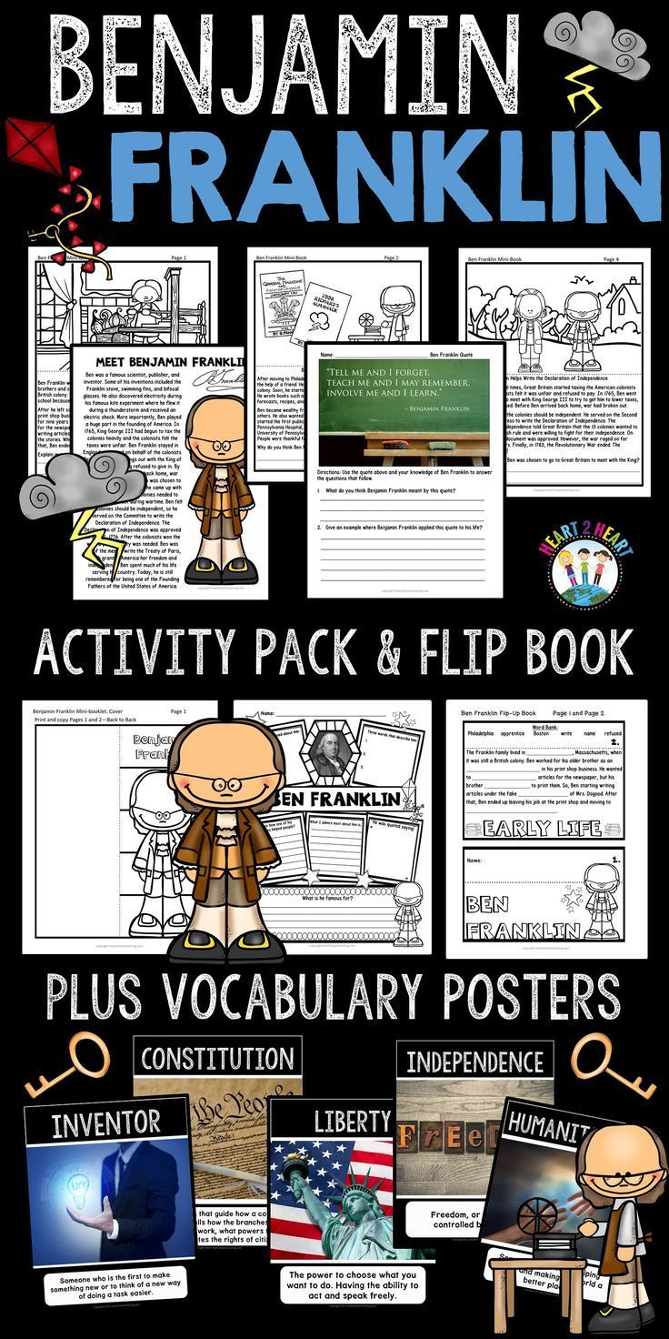 Students Will Love Learning All About Ben Franklin One Of The Founding Fathers Of T Vocabulary Posters History Teaching Resources Benjamin Franklin Activities [ 1472 x 736 Pixel ]