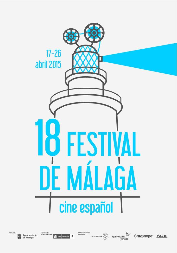 'La Farola'. Trabajo presentado en el Concurso de carteles del 18 Festival de Málaga: Cine español.