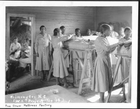 Pine Straw Mattress Factory In Wilmington North Carolina Works Project Published Courtesy Of The Archives
