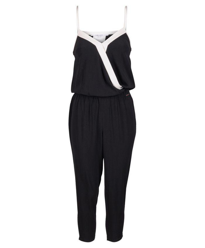 Liu Jo Kruvaze Yaka Askılı Siyah Tulum #tulum #overalls #moda #fashion #trend #madeinitaly #style #look #moda #2016modası