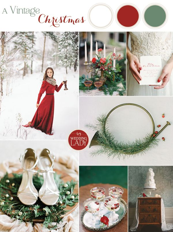 A Vintage Christmas Wedding with Traditional English Styling via @heyweddinglady