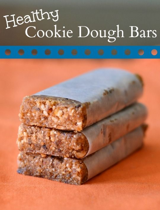 Healthy Cookie Dough Bars - The Gardening Cook