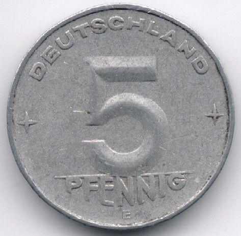 DDR 5 Pfennig 1953 E Difficult Type Veiling in de Duitsland,Europa (niet of voor €),Munten,Munten & Banknota's Categorie op eBid België