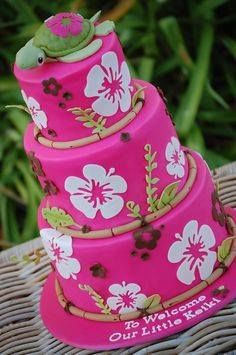 30 best Tropical Cake images on Pinterest Birthday decorations