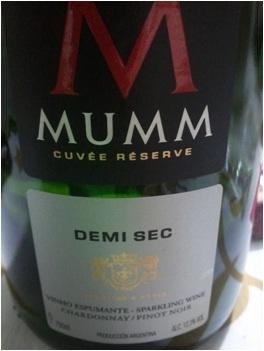 Espumante Mumm Cuvée Demi-Sec