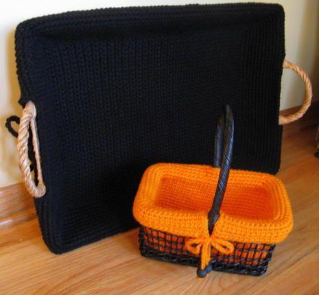 Crocheting Basket Liners
