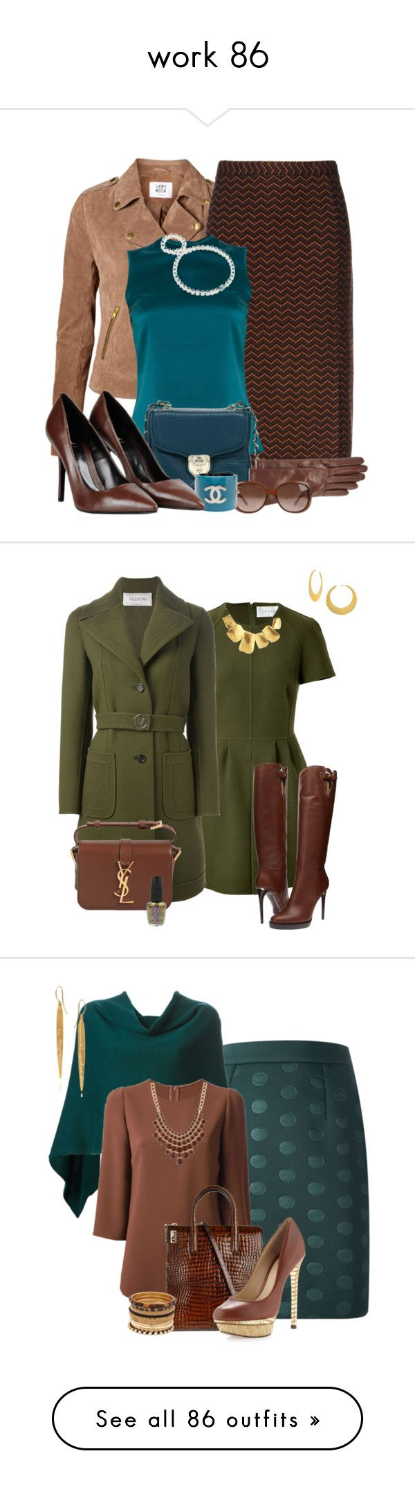 """""""work 86"""" by kalistabyme ❤ liked on Polyvore featuring Vero Moda, Missoni, Safiyaa, Love Moschino, Portolano, Gucci, Chanel, George J. Love, Tiffany & Co. and Valentino"""