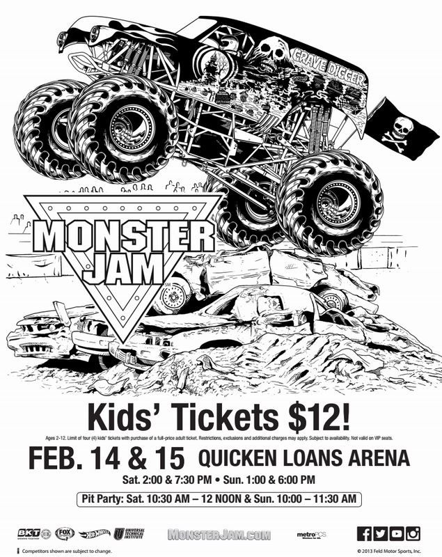 Free MoreMonsterJam Monster Truck Coloring Page