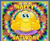 Colorful Happy Saturday Image Quote