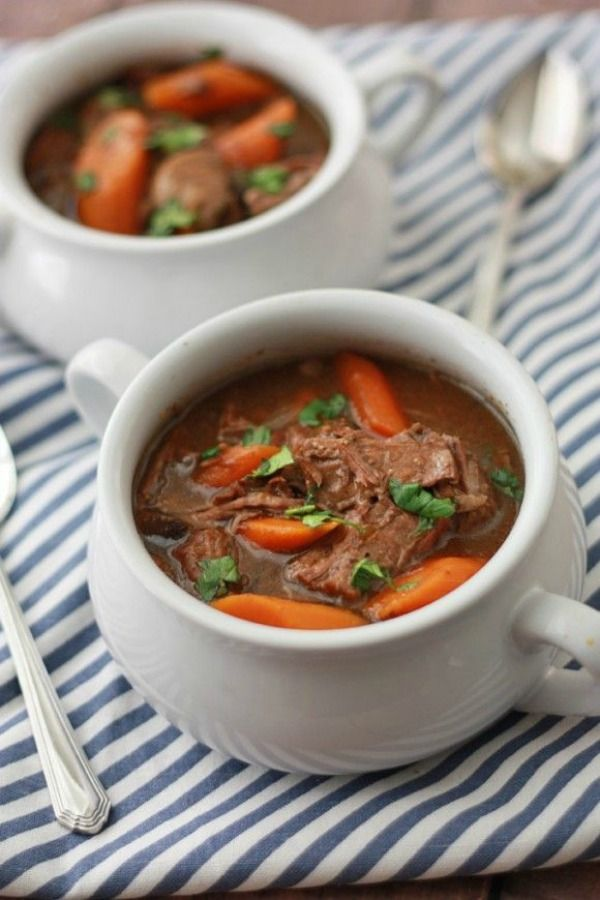 Slow Cooker Beef Stew from onelovelylife.com on foodiecrush.com