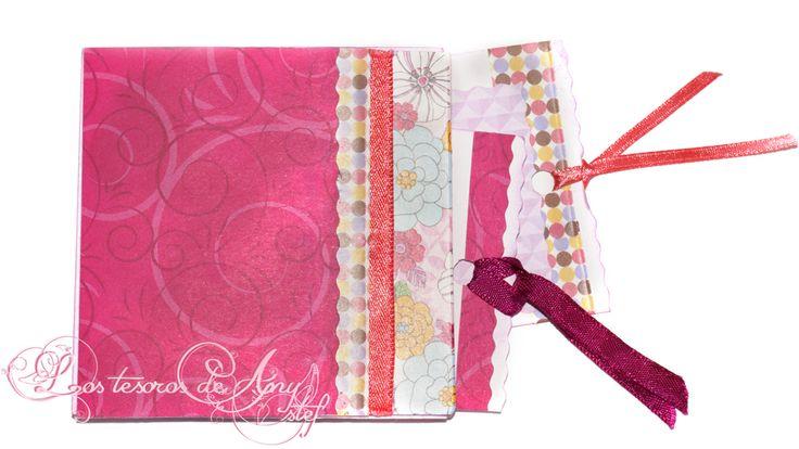 Mini álbum de una sola hoja de color rosa decorado con papel de origami, lentejuelas, washi tape y cinta de raso one sheet mini album #scrap #scrapbook #scrapbooking #diy #handmade http://lostesorosdeanystef.blogspot.com.es/2017/09/mini-album-de-una-sola-hoja.html