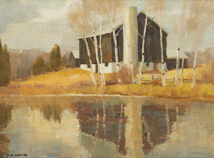 Tom Roberts; Barn Near the Pond