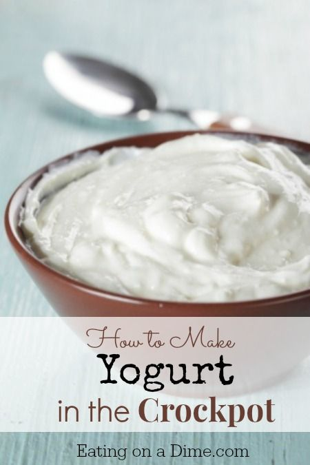 How to Make Yogurt in the Crockpot -this is so easy to do and tastes amazing! -  Eating on a Dime
