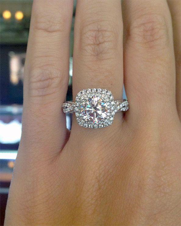 Round Halo Engagement Rings 1.5 Carat  pin  diamondengagementrings ... bac8996907