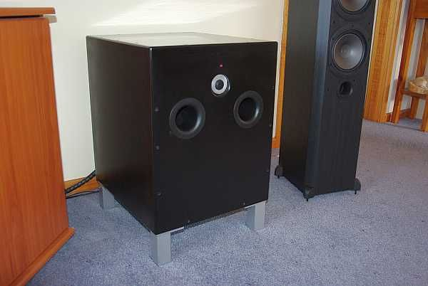 https://flic.kr/s/aHsjEm166d | DIY Subwoofer Build | My first build, taking an Accusound kit purcha40sed off EBay $179.  Supposed to build these as front firing, I built sub to down firing specs.  On/Off switch moved to front of unit for ease of access and LED indicator light too.  $40 MDF, $12 Feet, $12 vents, $38 paint