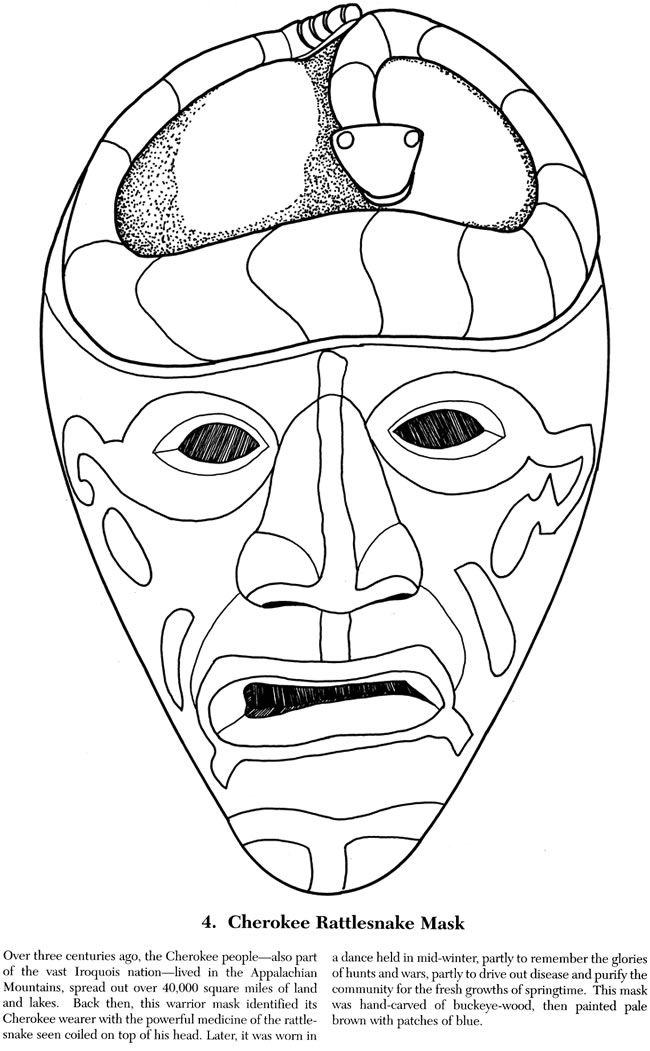 indian tribal masks coloring pages - photo#2