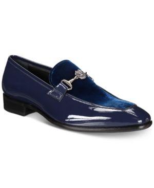 ROBERTO CAVALLI MEN S VELVET   PATENT MOC-TOE BIT LOAFERS MEN S SHOES.   robertocavalli  shoes c4d532c7b