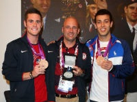 Diploma Mill Recipient Drew Johansen, Center, with Two Olympic Athletes. Indiana University Hires Coach with Diploma Mill Degree: Why Real Colleges Should Care