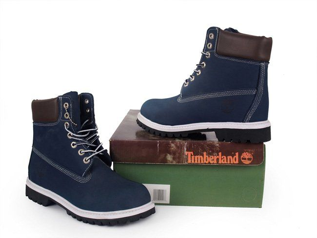 Timberland 6 inch Blue Brown Boots (без Меха)